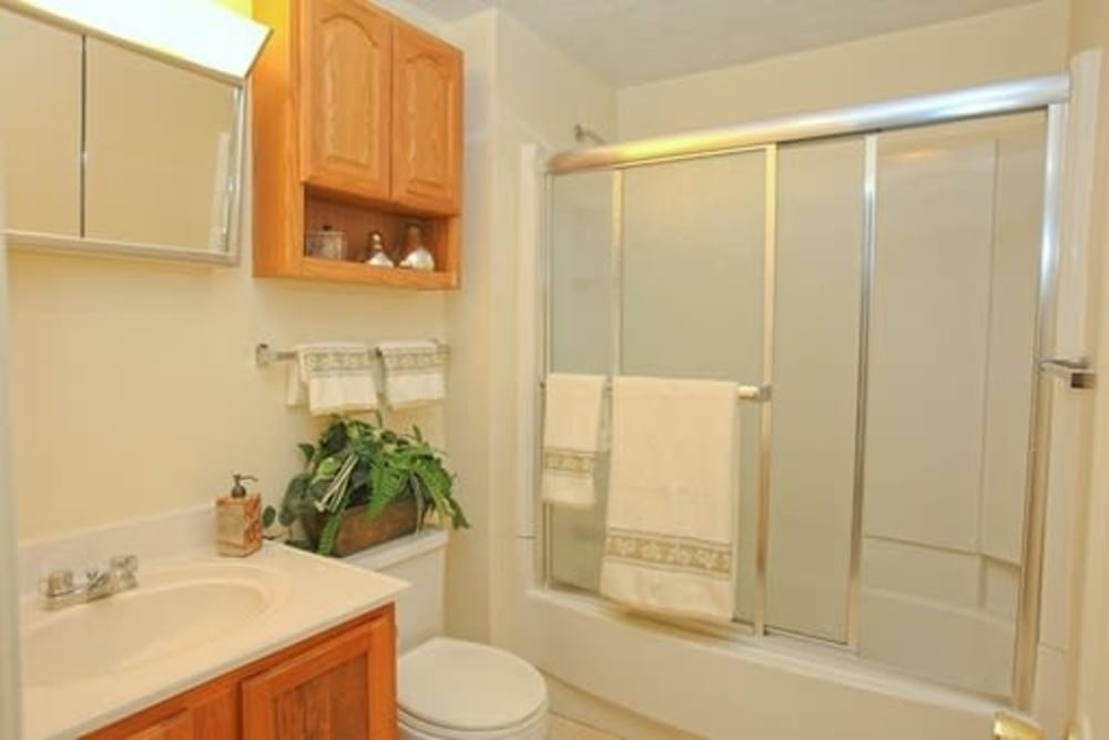 Bathroom at Fox Park Apartments in Plymouth, New Hampshire