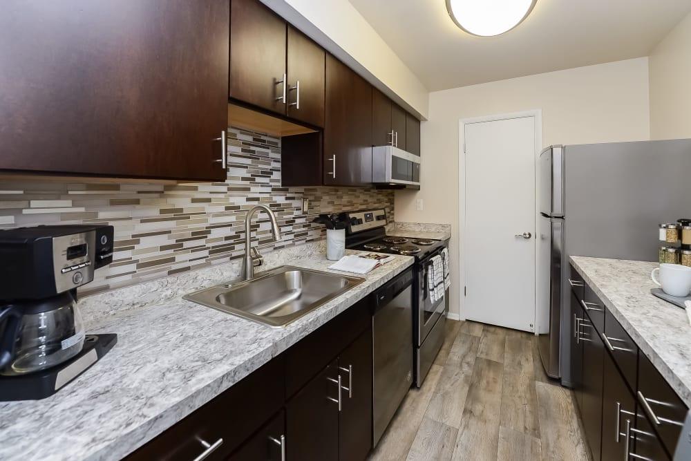 Kitchen at Apartments in Downingtown, Pennsylvania