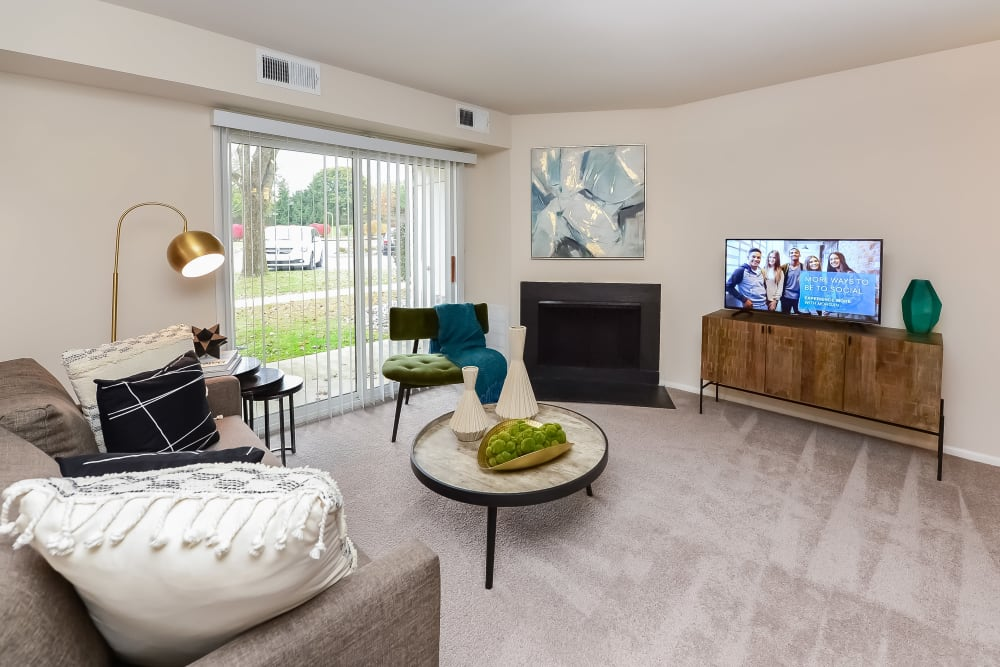 Living Room at The Preserve at Milltown in Downingtown, Pennsylvania