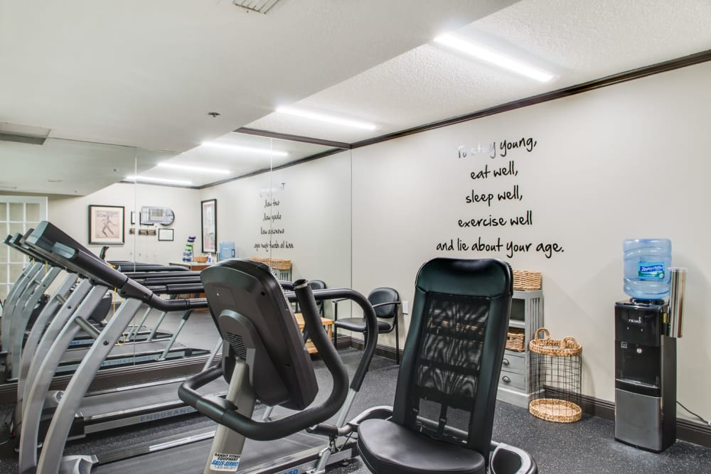 Fitness center at Grand Villa of Delray West in Florida