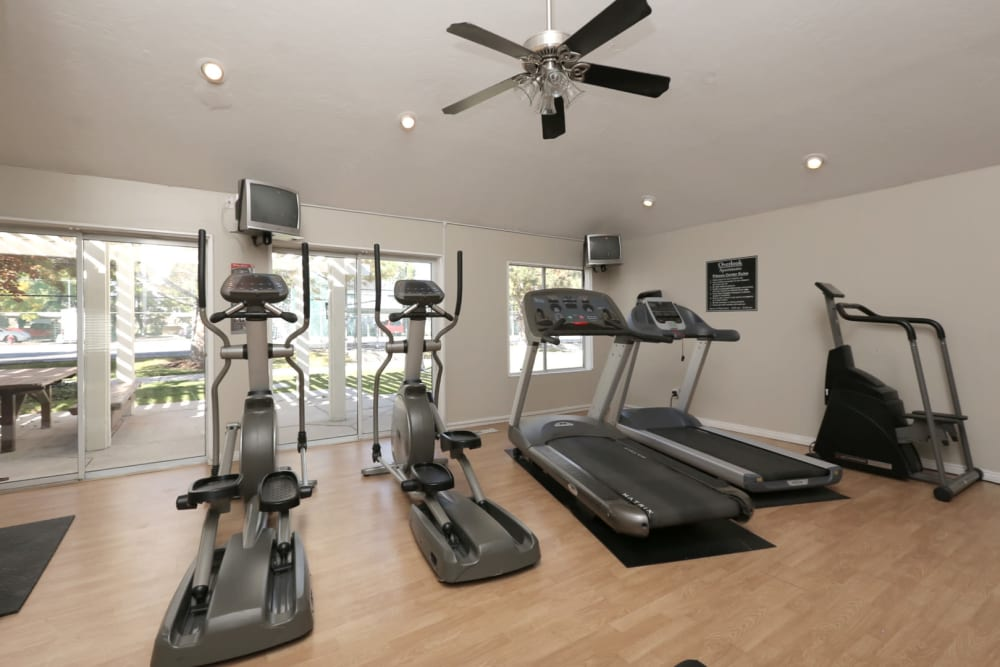Onsite fitness center at Overlook Point Apartments in Salt Lake City, Utah