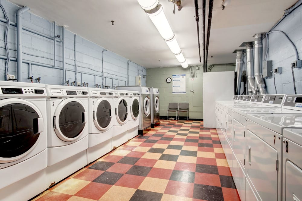Onsite laundry facility at Heritage at Shaw Station in Washington, District of Columbia
