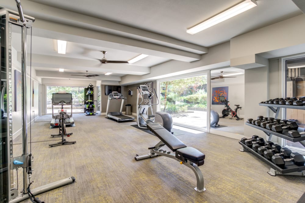 Onsite fitness center at Sofi Fremont in Fremont, California