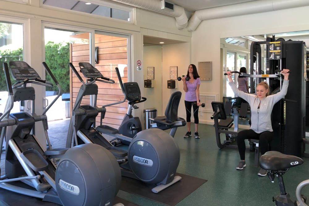 Fitness amenities at Brookdale Apartments in San Jose, California