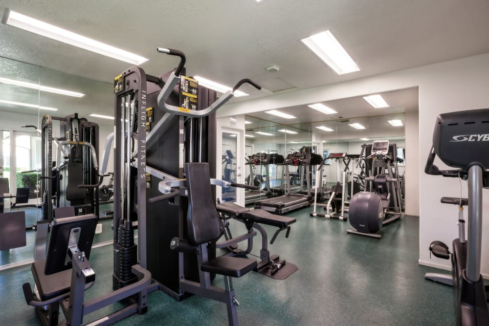 Fitness center at Cypress Pointe Apartments in Gilroy, California