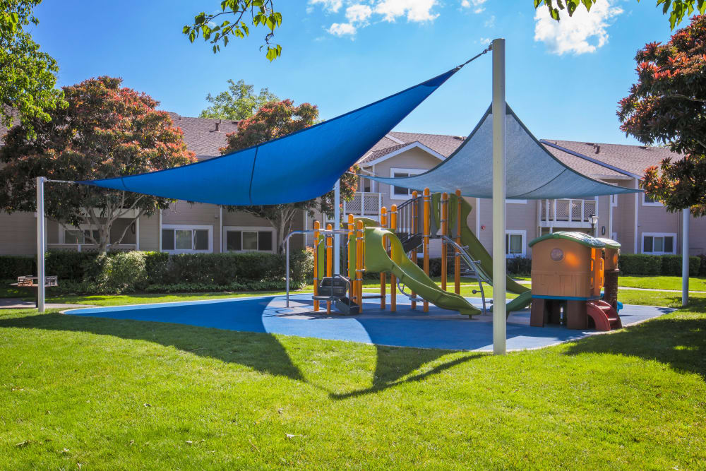 Covered playground at Cypress Pointe Apartments in Gilroy, California