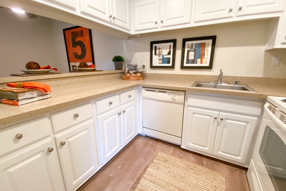Spacious kitchen at Cypress Pointe Apartments in Gilroy, California
