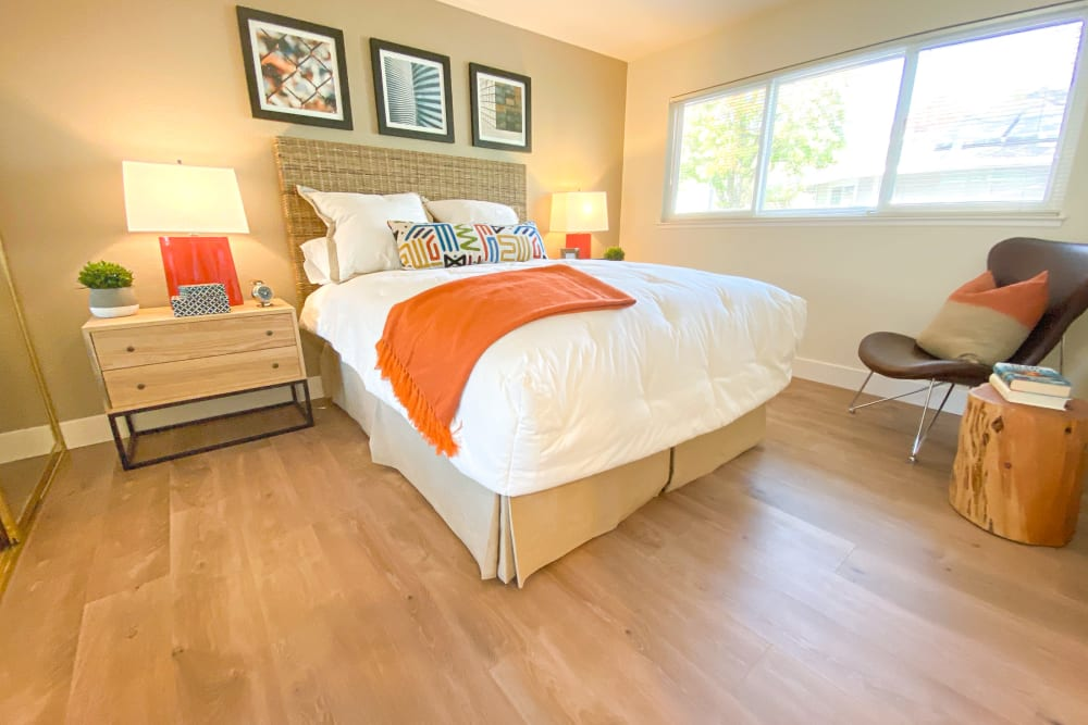 Bedroom at Cypress Pointe Apartments in Gilroy, California