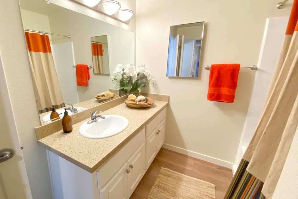 Bathroom at Cypress Pointe Apartments in Gilroy, California