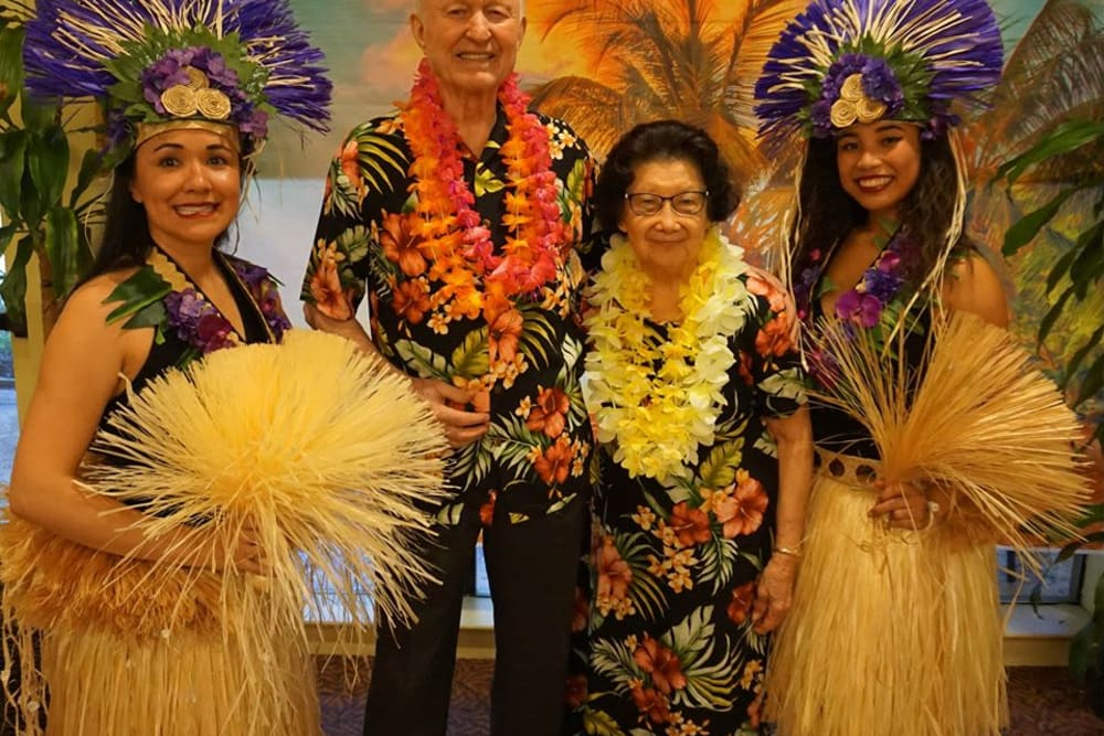 Luau event at Winding Commons Senior Living