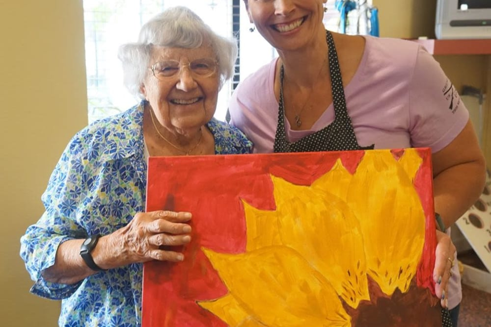Resident's painting at Winding Commons Senior Living