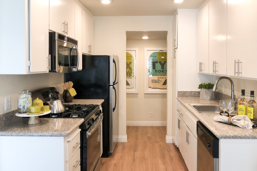 Bright, spacious kitchen at Greendale Apartments in Mountain View, California