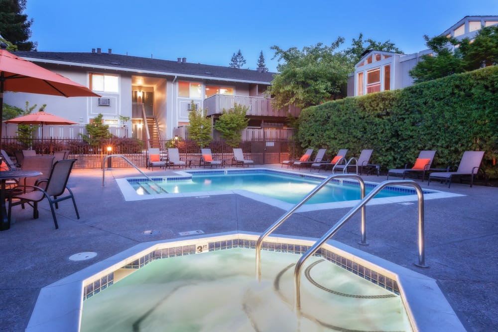 Spa at Greendale Apartments in Mountain View, California