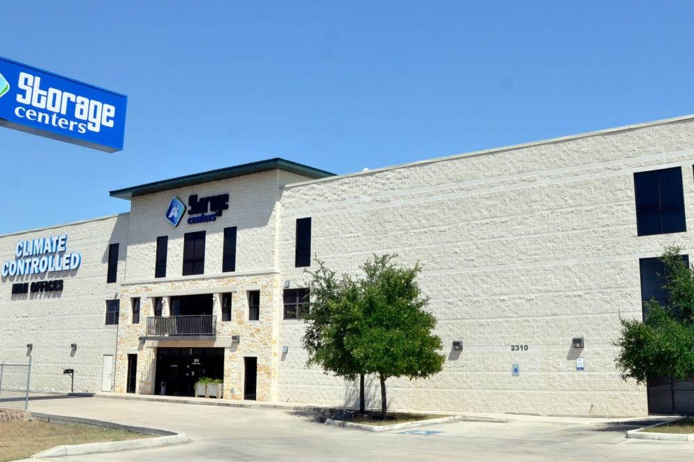 Front entrance to A3 Storage Centers in San Antonio, Texas
