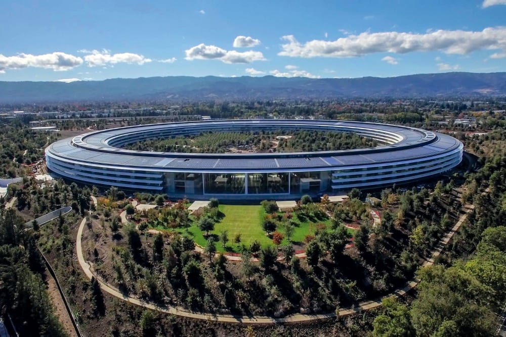 Apple Park in Santa Clara, California near Halford Gardens Apartments
