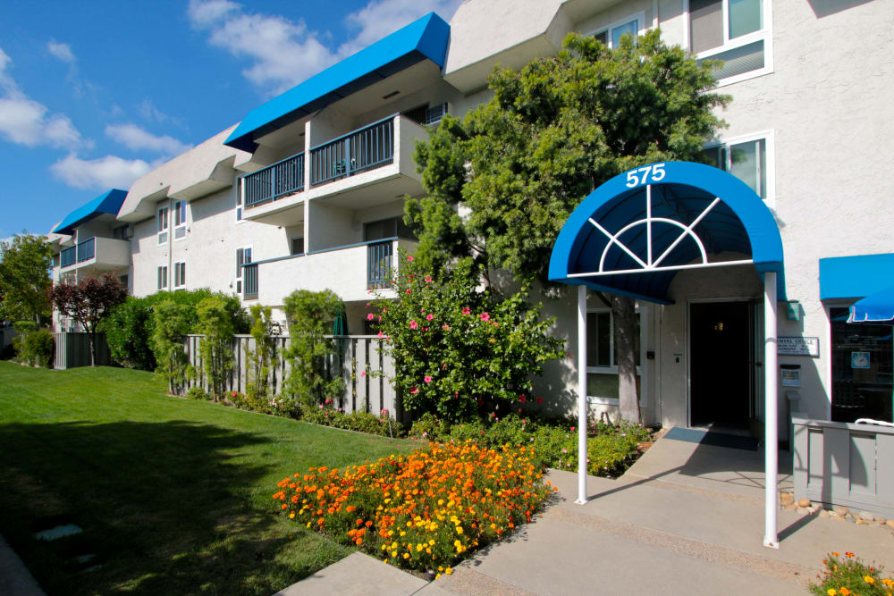 Entrance to Newport Apartments in Campbell, California