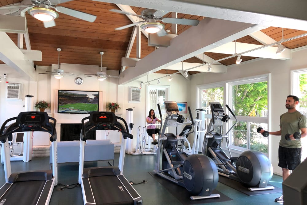 Fitness center at Newport Apartments in Campbell, California
