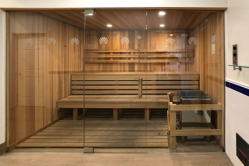 Sauna at Newport Apartments in Campbell, California