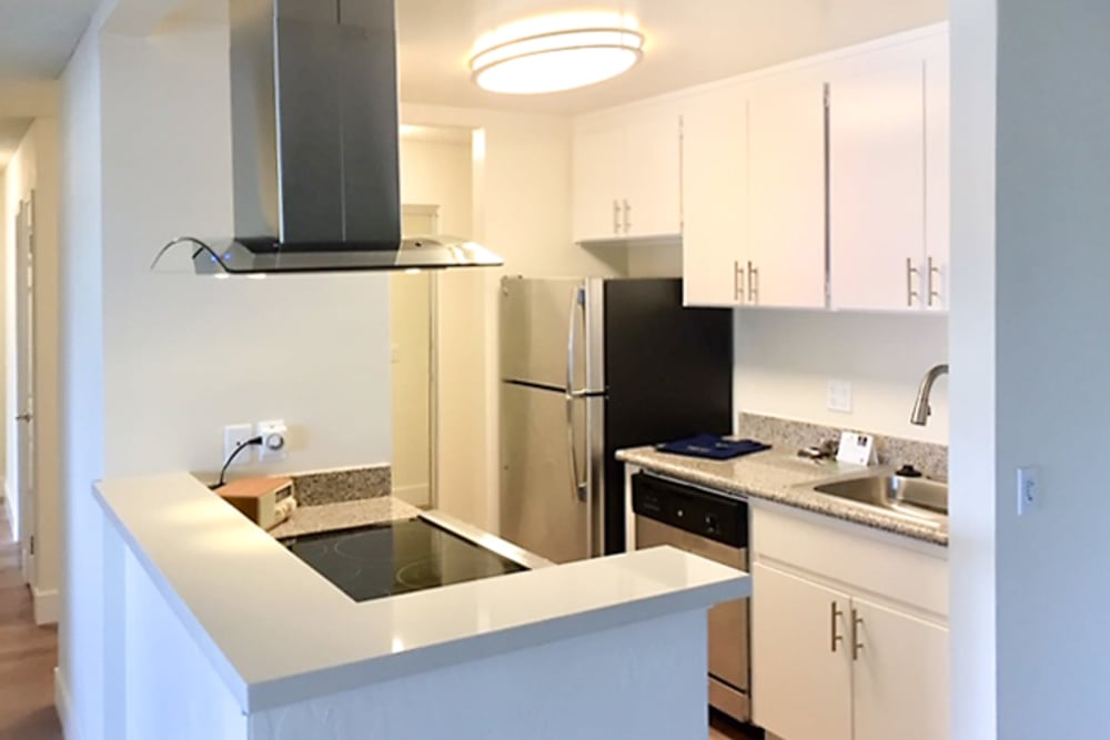 Kitchen amenities at Newport Apartments in Campbell, California