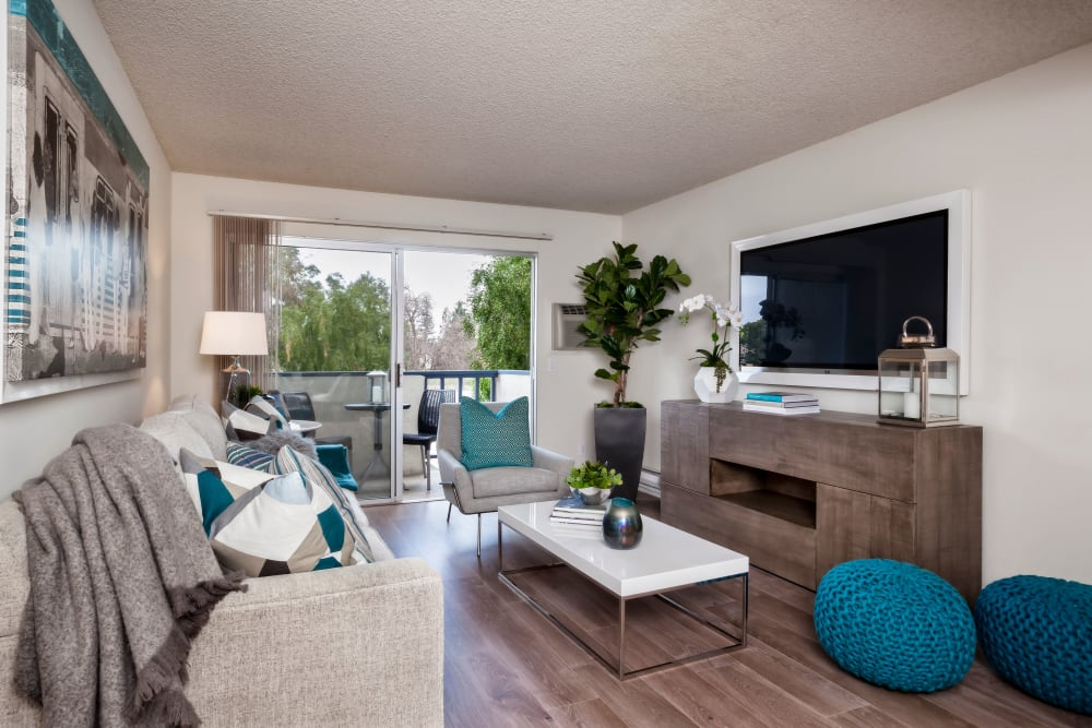 Living room at Newport Apartments in Campbell, California