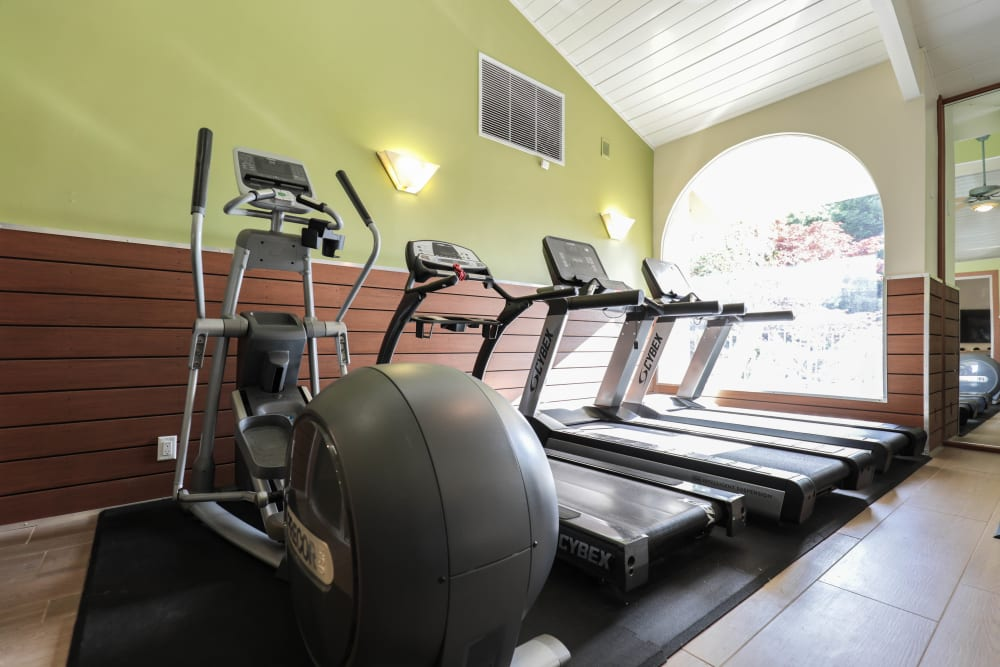 Modern fitness center at Spring Creek Apartments in Santa Clara, California