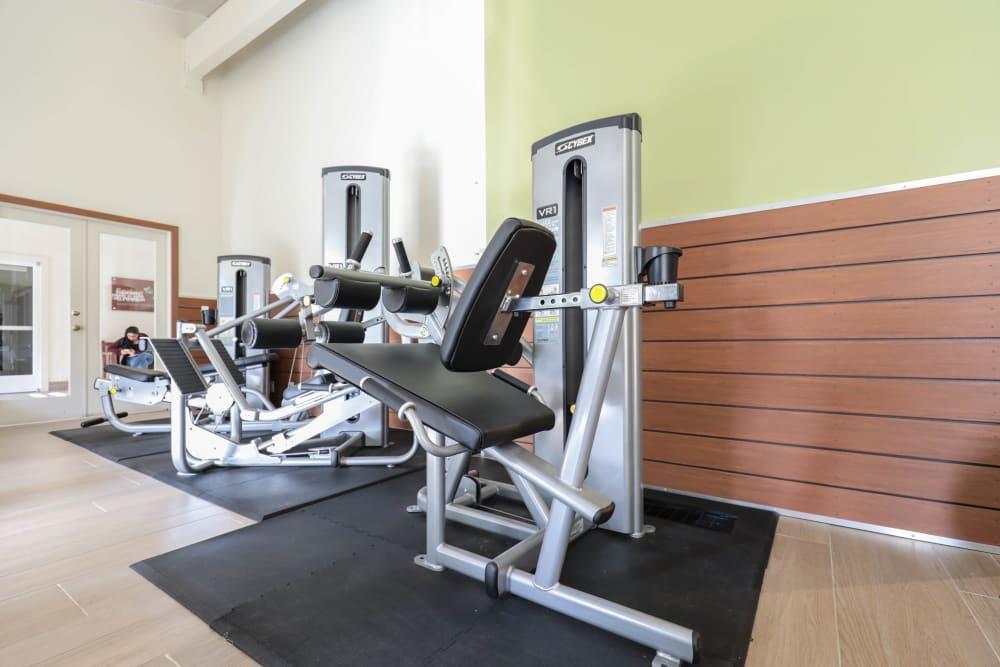 Fitness center at Spring Creek Apartments in Santa Clara, California