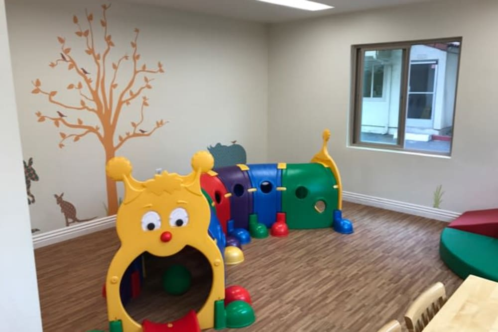 Indoor play area at Spring Creek Apartments in Santa Clara, California