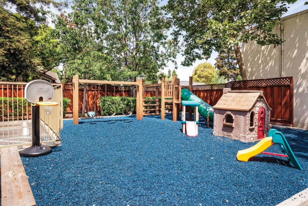 Children's play area at Spring Creek Apartments in Santa Clara, California