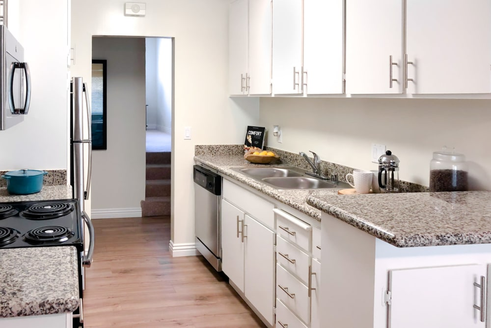 Kitchen amenities at Spring Creek Apartments in Santa Clara, California