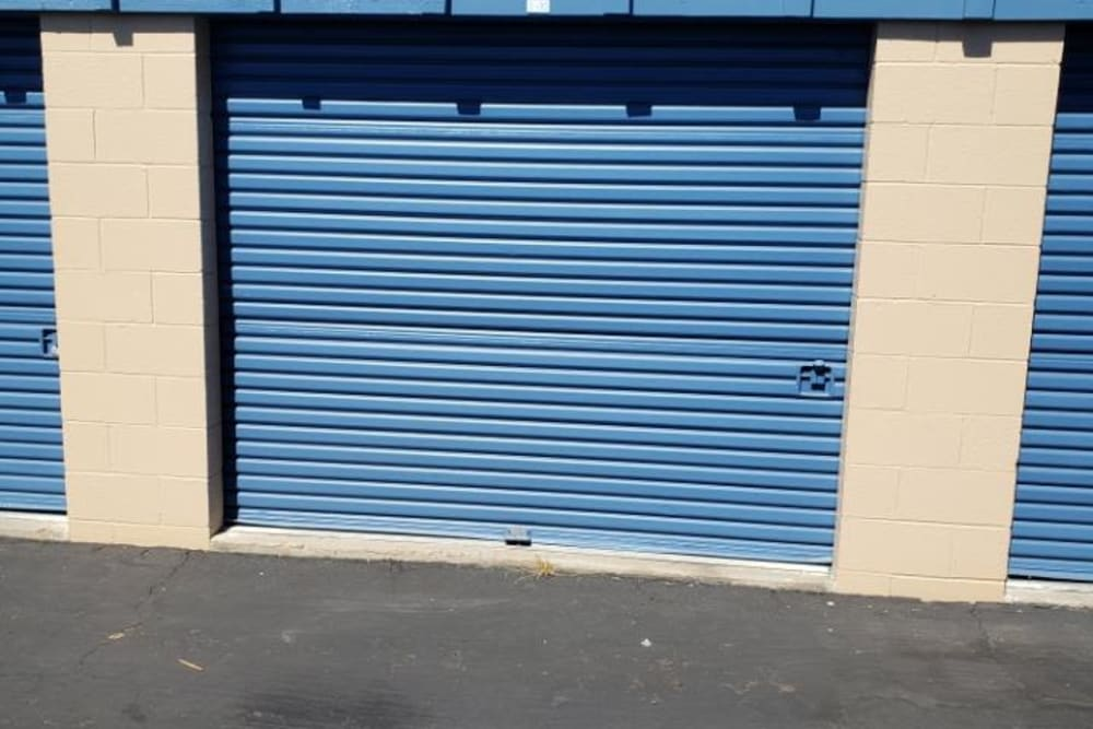 Exterior of a storage unit at AAA Alliance Self Storage in San Diego, California