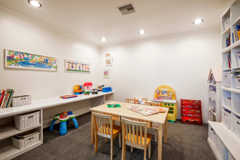 Play room at Village Green Apartments in Cupertino, California