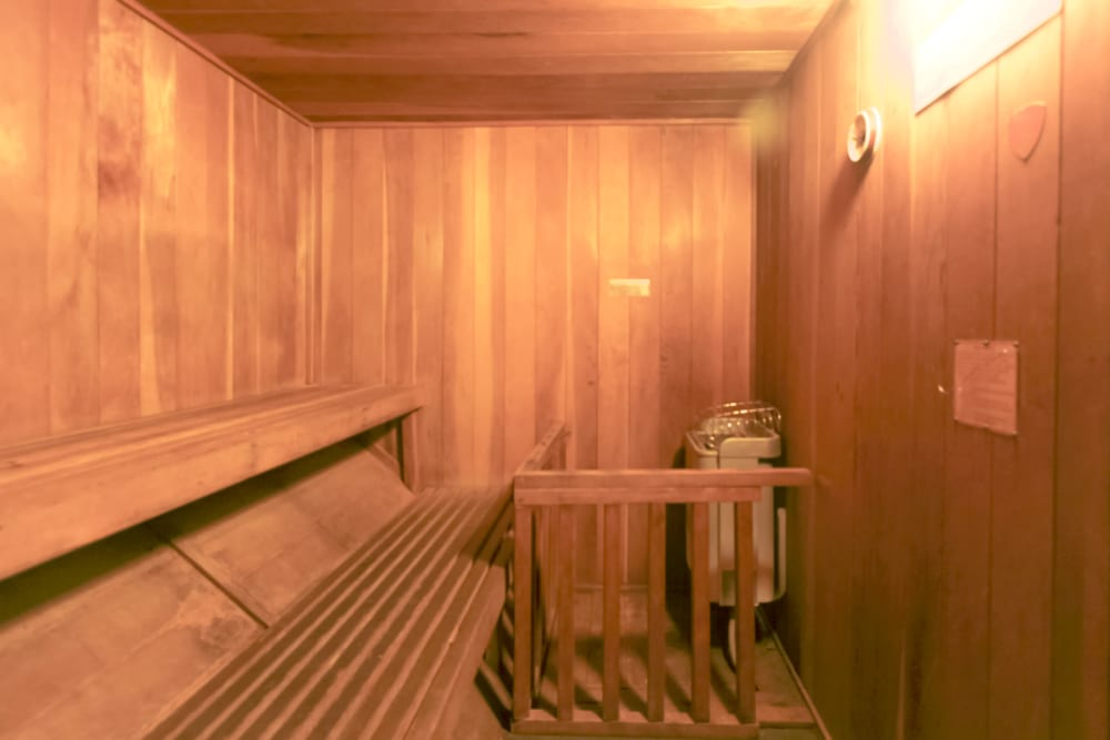 Sauna at Village Green Apartments in Cupertino, California