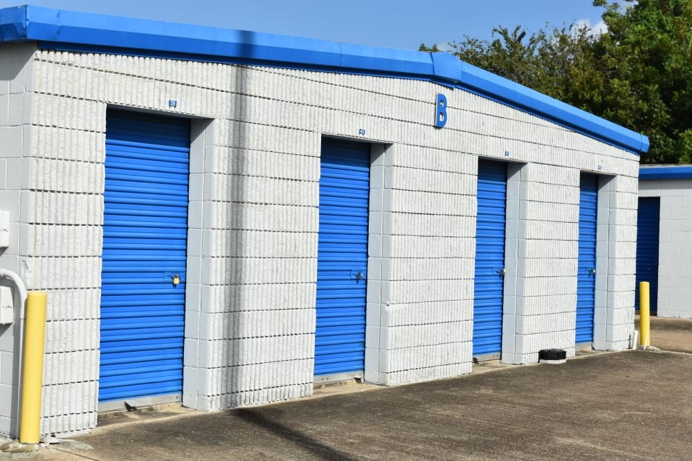Small storage units at AAA Alliance Self Storage in Houston, Texas