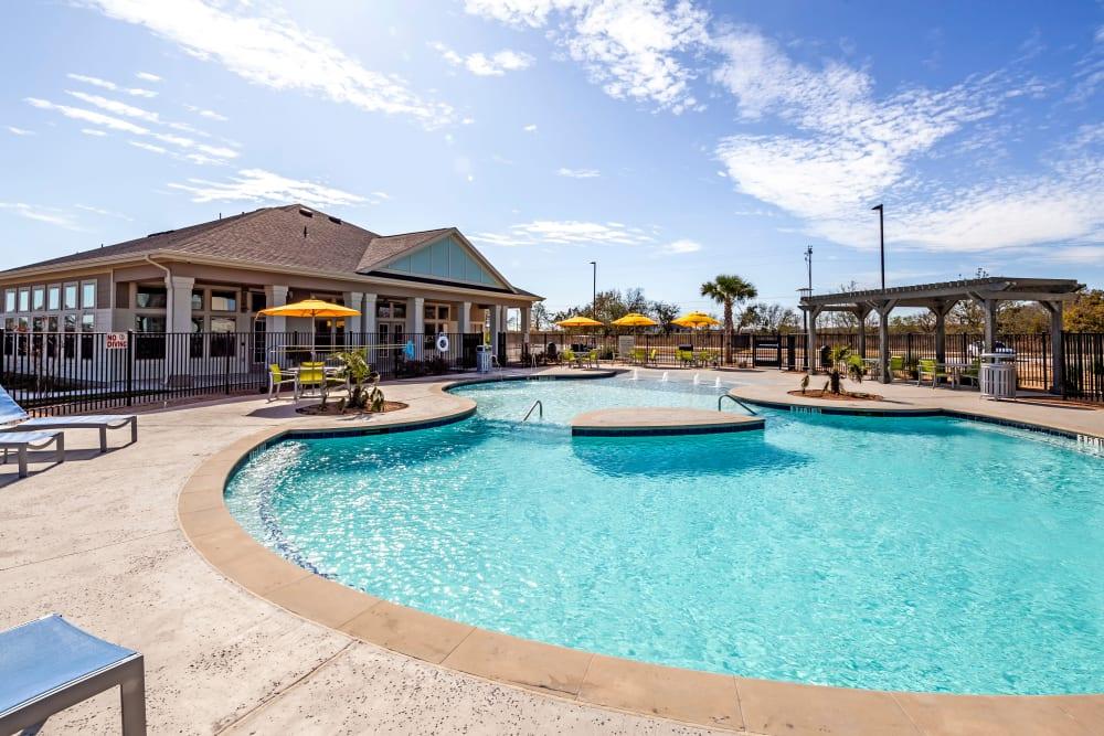 Swimming Pool at Apartments in Lockhart, Texas