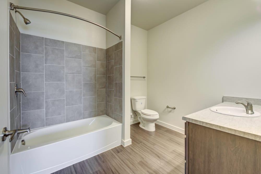 Beautiful Bathroom at Apartments in Lockhart, Texas