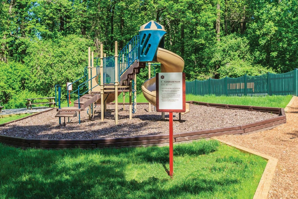 Onsite children's playground at The Timbers at Long Reach Apartments in Columbia, Maryland