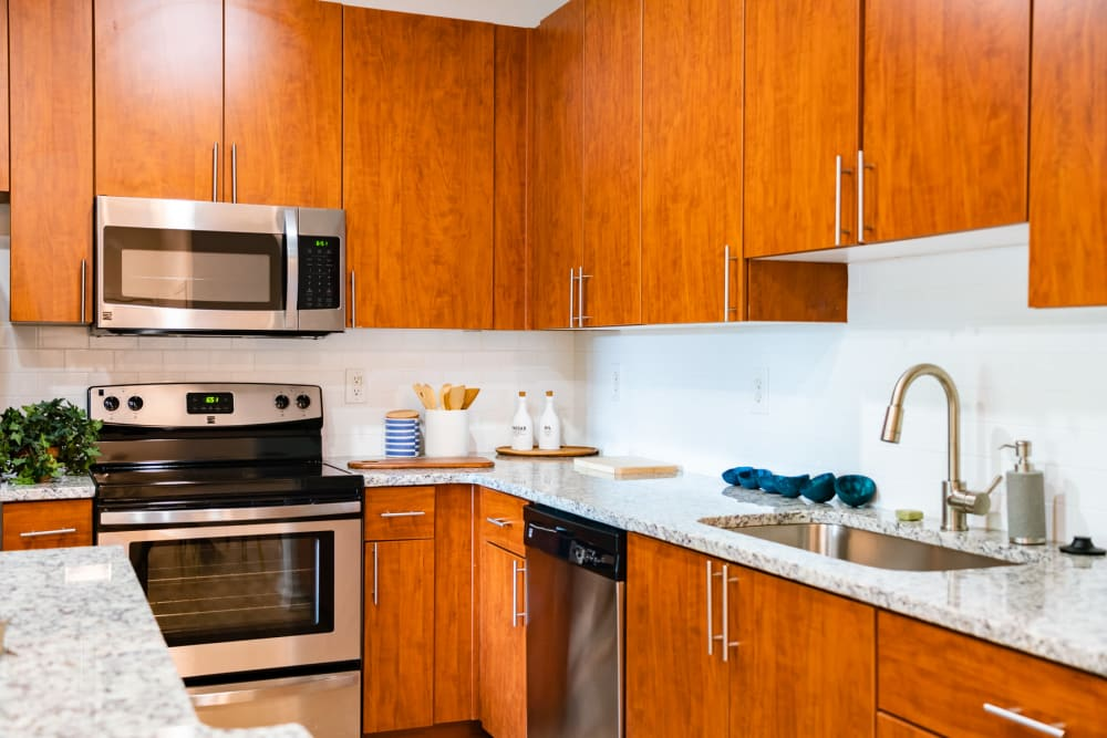 Kitchen at Apartments in Duluth, Georgia