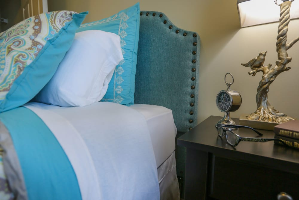 A nightstand at Harmony at Chantilly in Herndon, Virginia