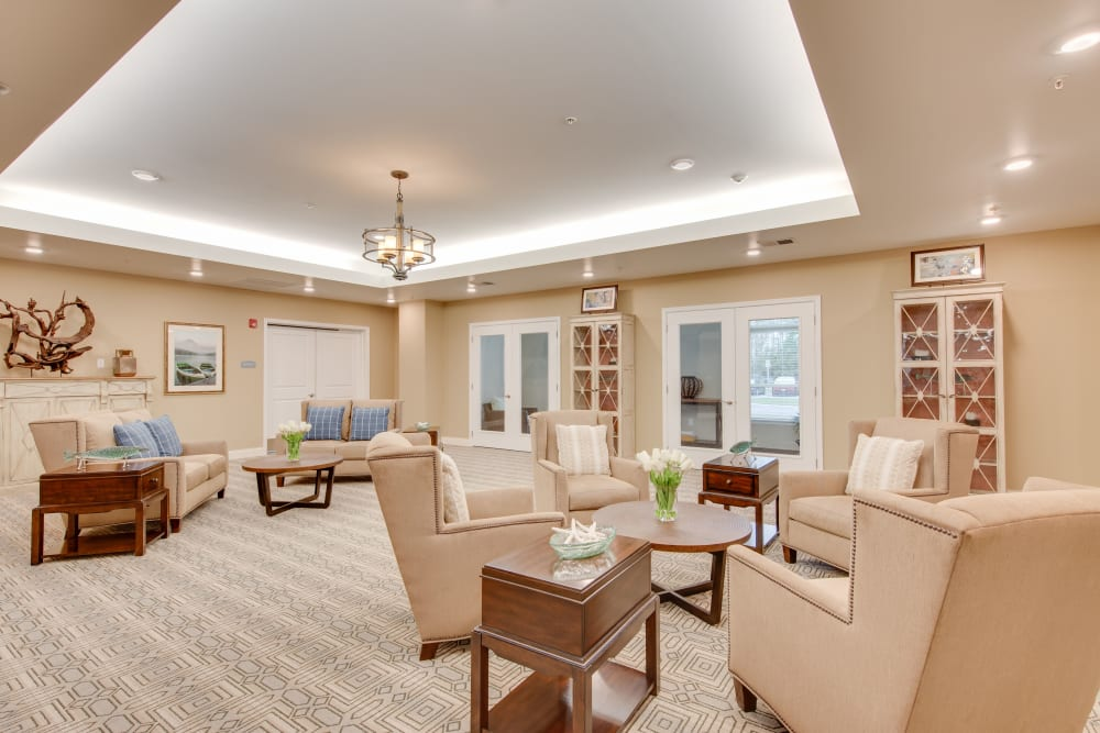A common area at Harmony at Oakbrooke in Chesapeake, Virginia