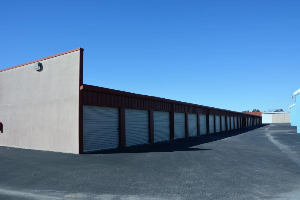 Large open driveways through AAA Alliance Self Storage in San Antonio, Texas