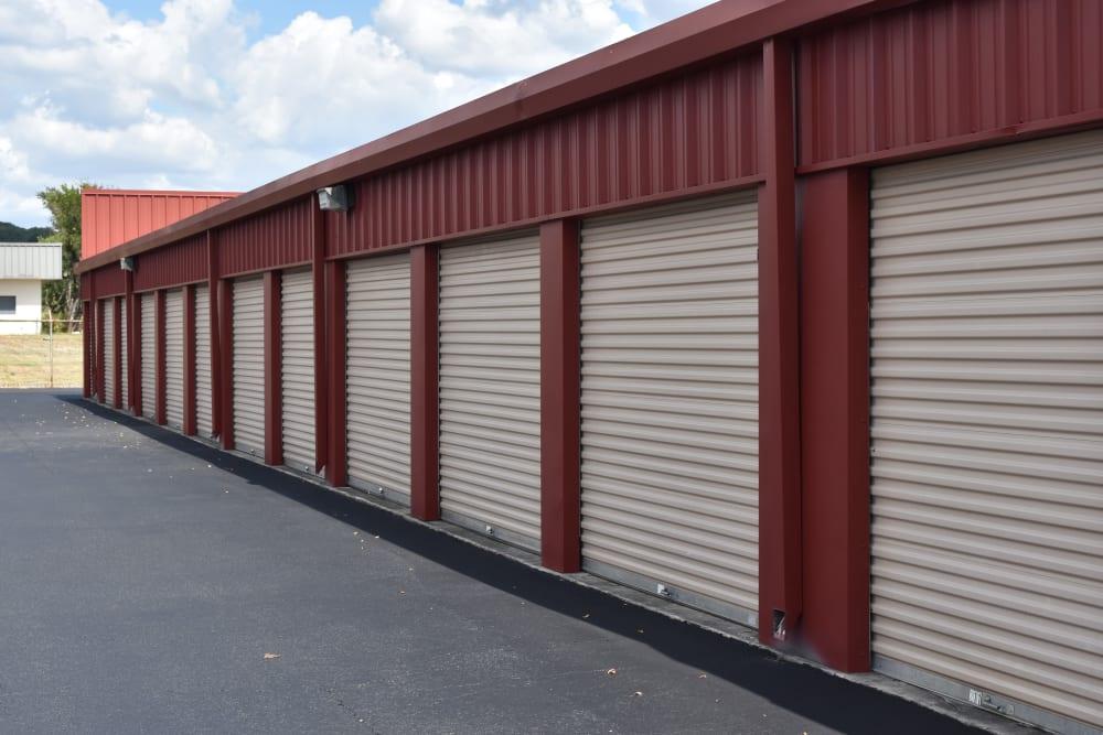 Large storage units at AAA Alliance Self Storage in San Antonio, Texas