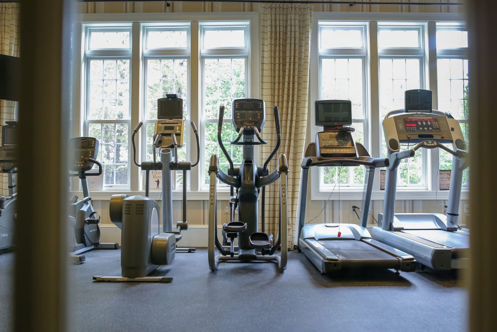Exercise equipment is available at Harmony at Spring Hill in Lorton, Virginia