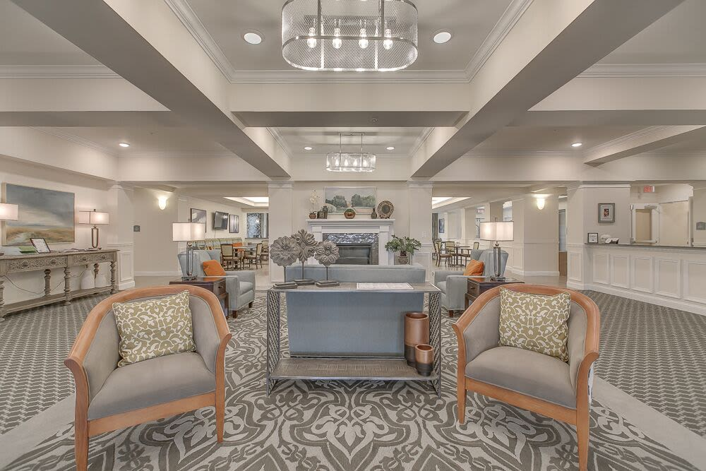 The lobby area at Harmony at Victory Station in Murfreesboro, Tennessee