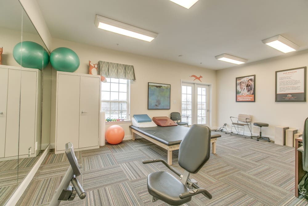 A therapy room at Harmony at Victory Station in Murfreesboro, Tennessee