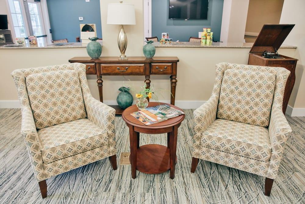 Common seating at Harmony at West Ashley in Charleston, South Carolina