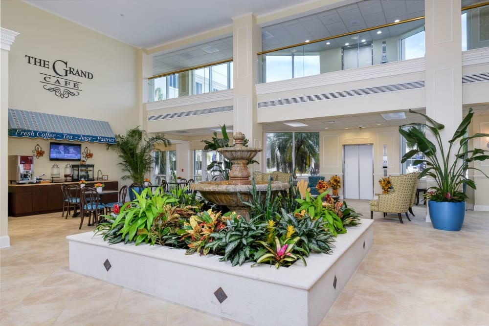 Front foyer at Grand Villa of Fort Myers in Florida