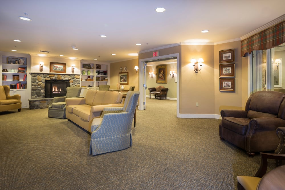 Lounge Area at Brookstone Alzheimer's Special Care Center