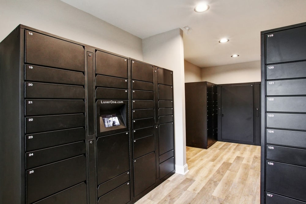 Package Lockers at The Lodge on the Chattahoochee Apartments in Sandy Springs, Georgia