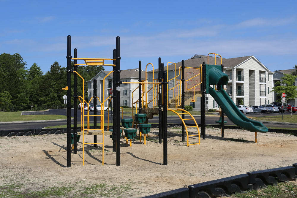 The community playground at Ashton Park Apartments in Gulfport, Mississippi