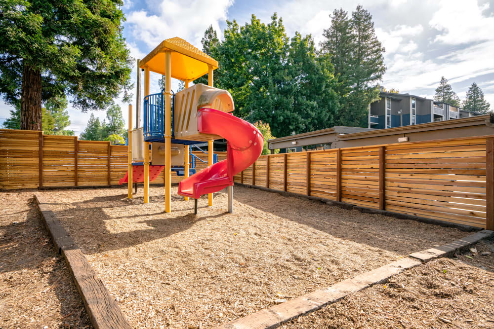 Onsite children's playground at Terra Martinez in Martinez, California
